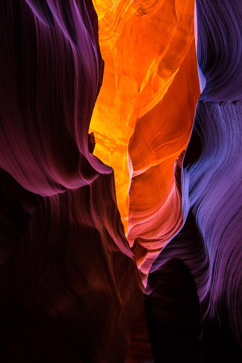 Lower Antelope Canyon in Page, AZ